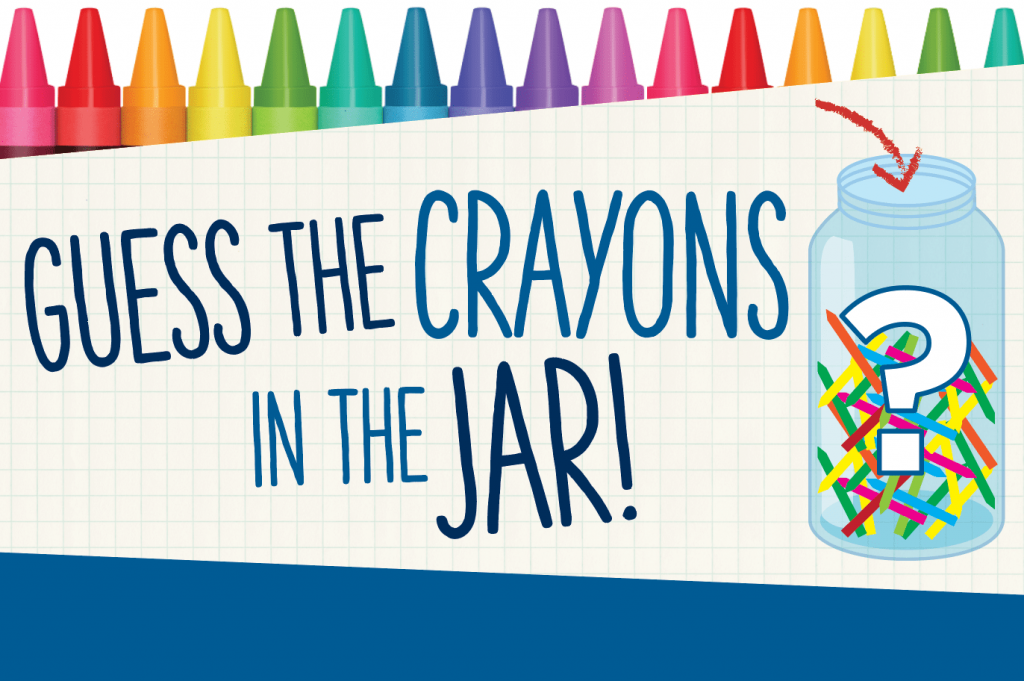 Back to school contest - guess how many crayons